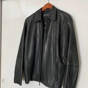 Men's Claiborne Leather Jacket Small, Soft Leather